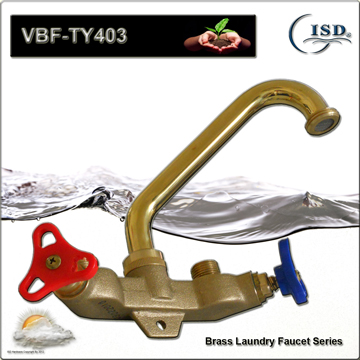 "4"" Central Cast Brass Laundry Faucets"