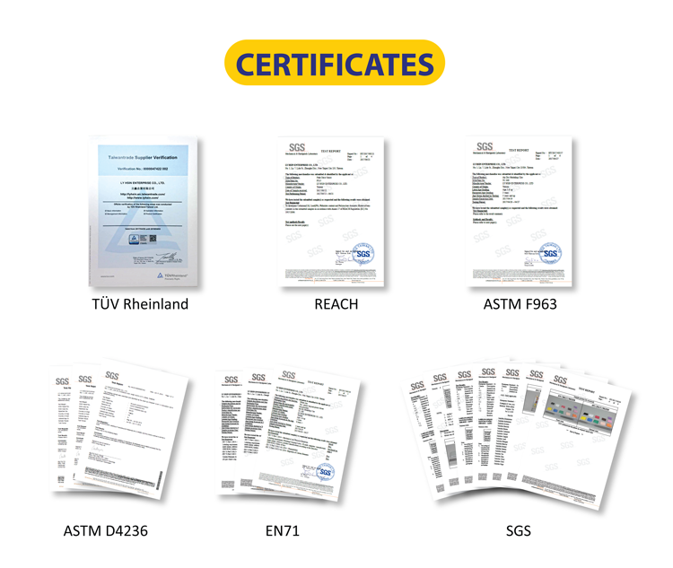 LYHSIN Certificates