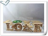 DIY Wooden Carved Alphabet Letter Home Décor - 6cm