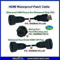 Waterproof HDMI Connector and Assembly