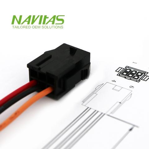 Taiwan Molex Micro-Fit 6 pin 3mm Pitch Custom Wiring Harness ... on