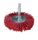 WHEEL BRUSHES with Hex-Shank   ABRASIVE NYLON(red #80)