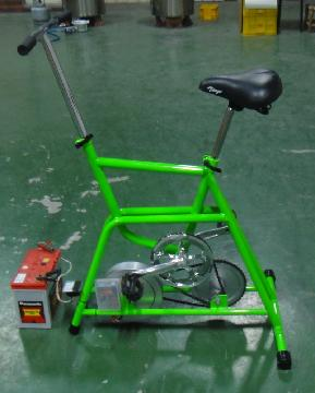 Bicycle_PowerGenerator_charging_36AH_battery_within_3_hours