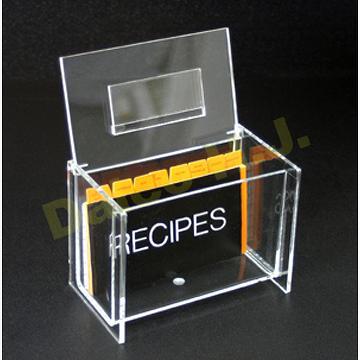 ACRYLIC DISPLAY RECIPE STORAGE BOX / BIN / ORGANIZER & Taiwan ACRYLIC DISPLAY RECIPE STORAGE BOX / BIN / ORGANIZER ...