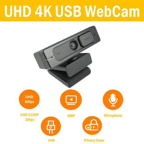 4K SONY IMX415 USB CMOS WebCam with 2*Mic