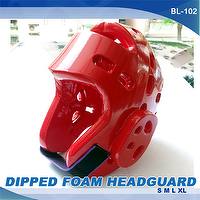 DIPPED FOAM HEAD GUARD, KARATE, TAEKWONDO, JUDO, MARTIAL ARTS
