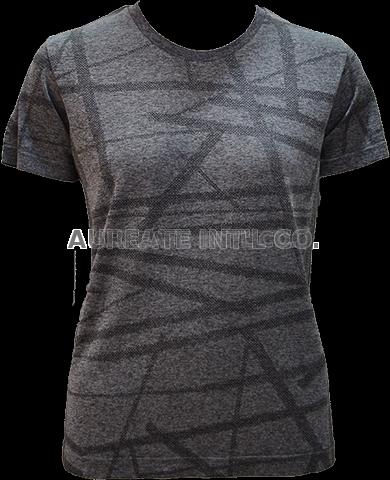 Seamless t shirts for women sports wear running outdoor