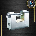 Armoured Rectangular Brass Padlock