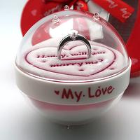 Acrylic sand globe Wedding engagement gifts with wedding ring