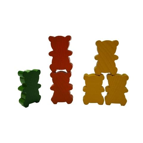 6 Colors Wooden Bear Family