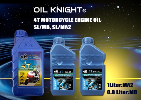 Oil Knight 4T Motorcycle Oil-SJ/SL