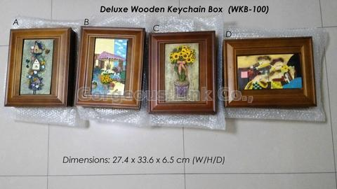 Deluxe Wooden Keychain Box
