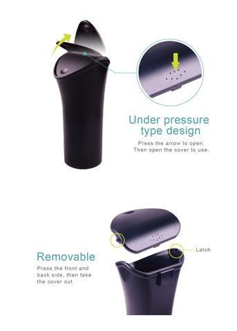 HPA560 Hypersonic Plastic Car Trash Bin