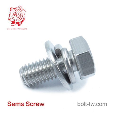 Spring Washer Sems Screw and Washer Assembled