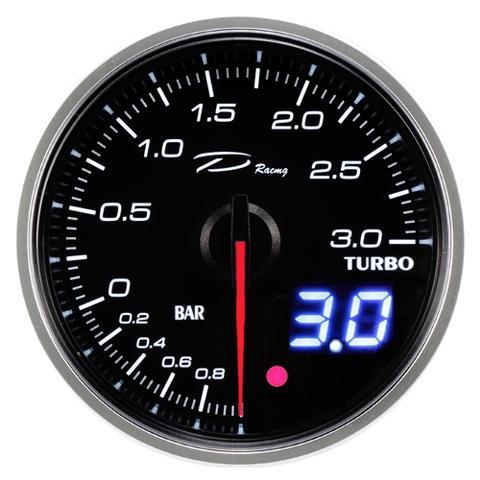 D Racing 60mm Analog combo Digital Boost Gauge