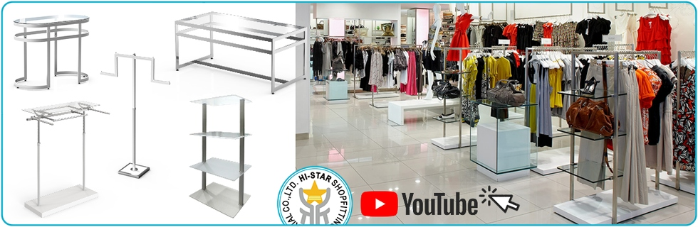 HR Metal Chrome Display Clothing Rack OEM ODM