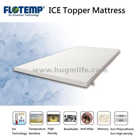 Flotemp Temperature Sensitive Ice Topper Mattress -Single