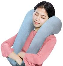 Three-in-One Inflatable Neck Support Travel Pillow