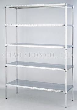 Durable Perforated Steel Board Shelf Metal Rack