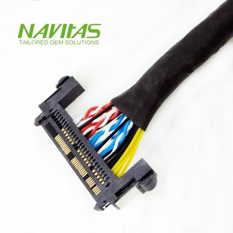 FIR 51pin DF13 40pin with Ring Terminal LVDS Cable