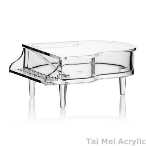 Acrylic Piano Box, jewelry box, organizer, with lid