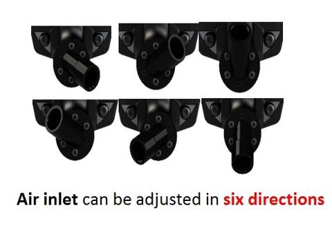 Air inlet can be adjusted in six directions