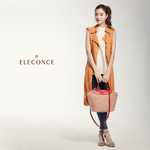 ELECONCE PARALLEL Diamond Bag (OrangeRed)