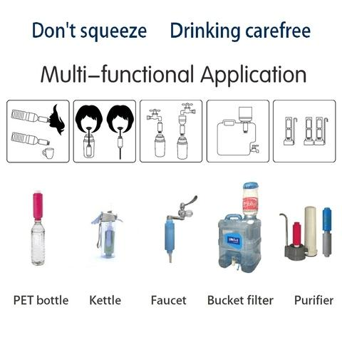 Portable water filter filtration system kit