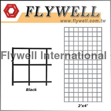 Taiwan Black Display Metal Wire Mesh Grid Panel | FLYWELL ...