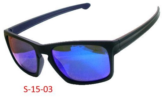 Black Rubbery Frame & Temples Blue Revo / Smoke PC #6 Base Lens