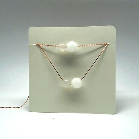 White Chalcedony April Diffuser Birthstone Necklace
