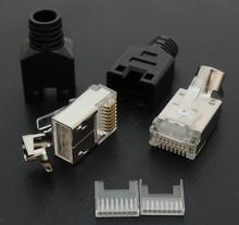 Modular Plugs Cat-5e RJ45 Shading H TYPE