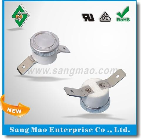 Disc-Type Auto-Reset Bimetal Thermostat Switch for Heating Appliances