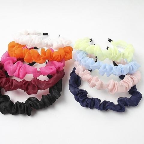 New Design No Teeth plastic Fabric Polyester Hard Headband Printing Fabric Knot Headband Hair Band For Adult Women