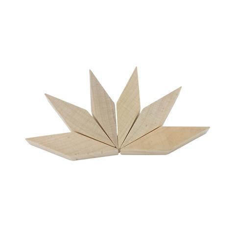 25mm Plain Wood Long Parallelogram Piece Blocks