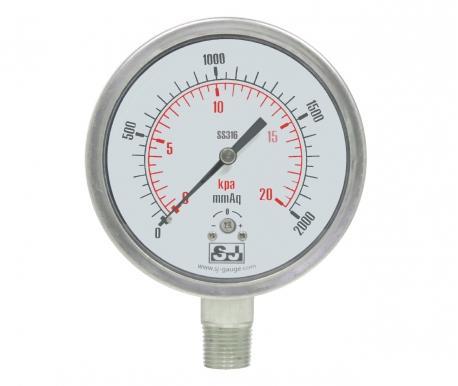 Stainless steel low pressure Pressure Gauge