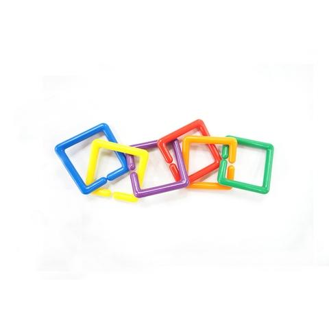 500PCS  Shape links  3 shapes 6 colors