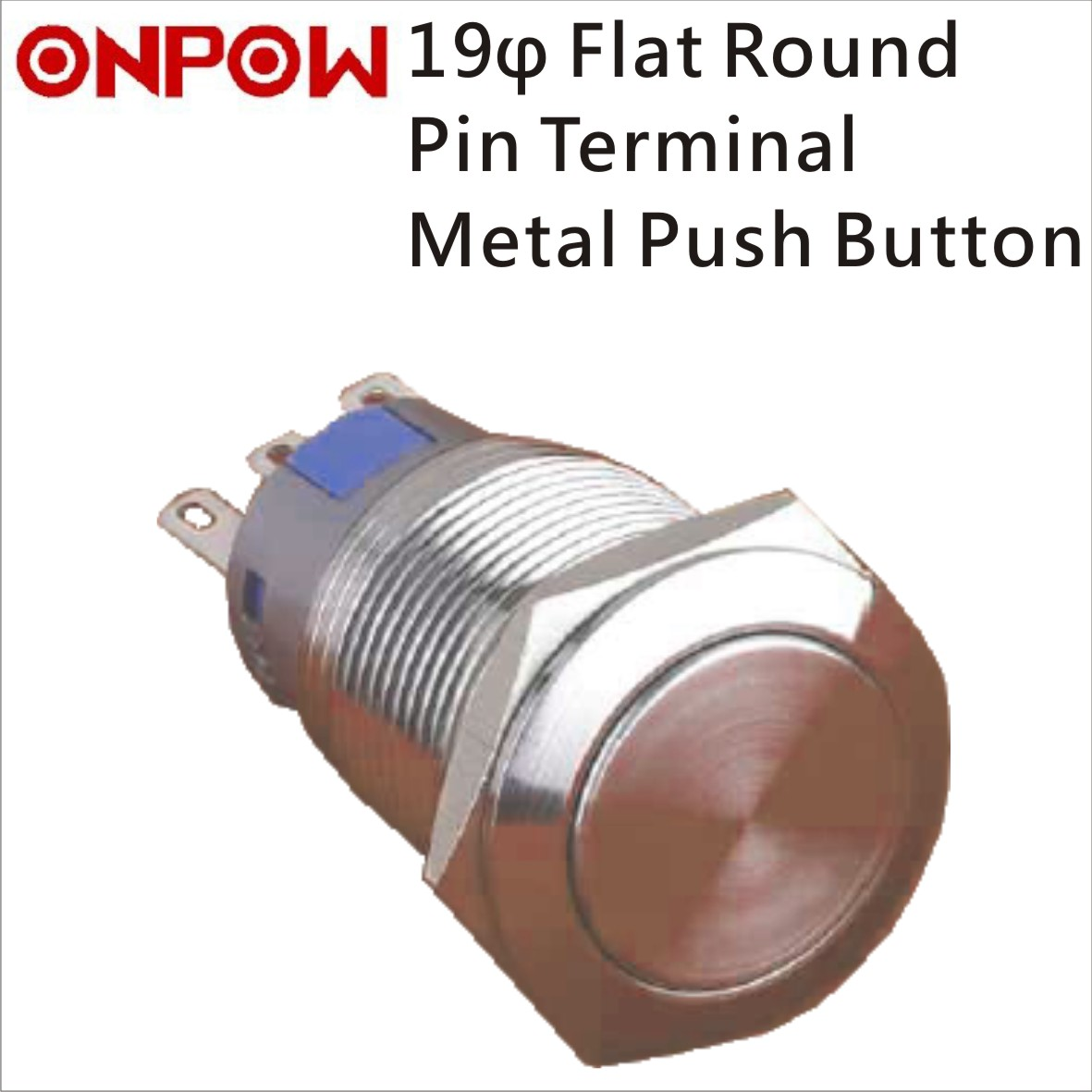 Taiwan Onpow 19mm Metal Push Button Switch Flat Round Enproteko Co Switches Large 10mm Latching Red